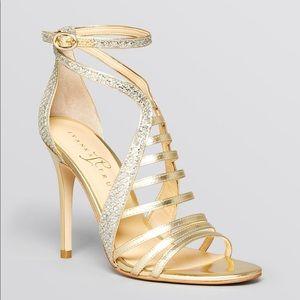 Ivanka Trump Gold Multi Textured gold heels